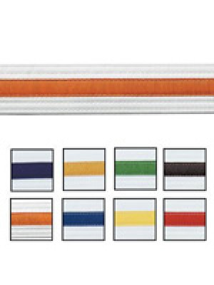 Striped White Belts