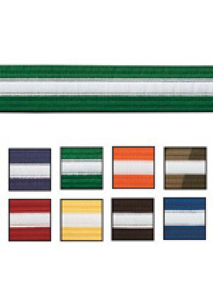 White Striped Belts