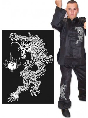 Kung Fu Uniform with Dragon Design